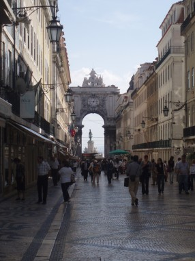 Main street in Lisbon city centre