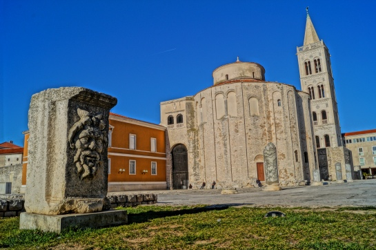 St. Donatus Church, situated on the Roman forum, was built in 9th century. It is also one of the symbols of Zadar and one of the most famous Croatian monuments.